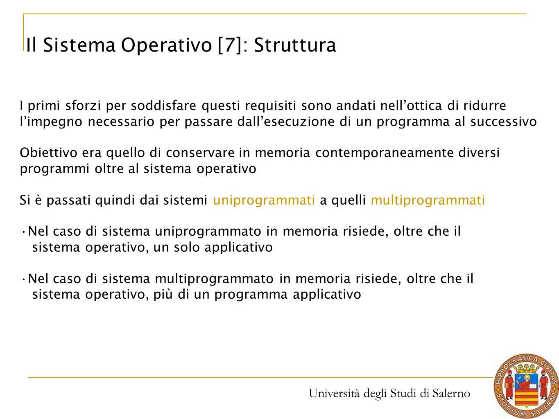 Il Sistema Operativo [7]: Struttura